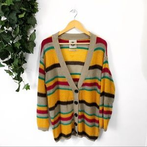 Urban Outfitters Colourful Knit Button Up Cardigan